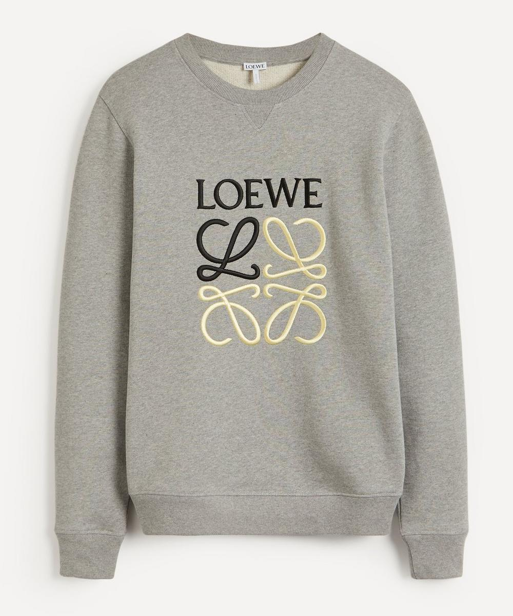 Loewe - Anagram Embroidered Cotton Sweatshirt
