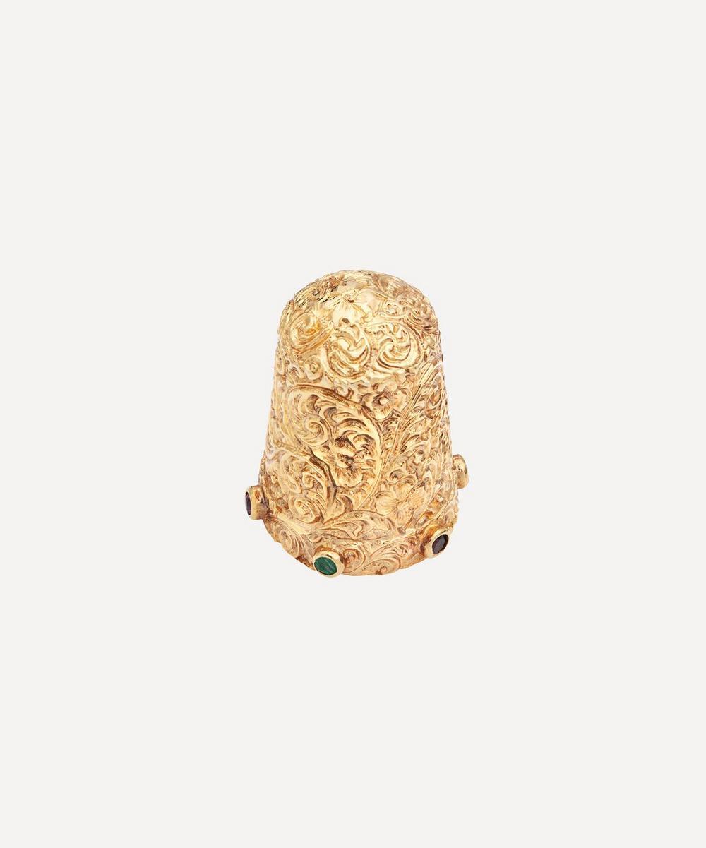 Kojis - Gold 1970s Gemstone Thimble