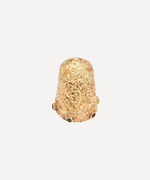 Gold 1970s Gemstone Thimble