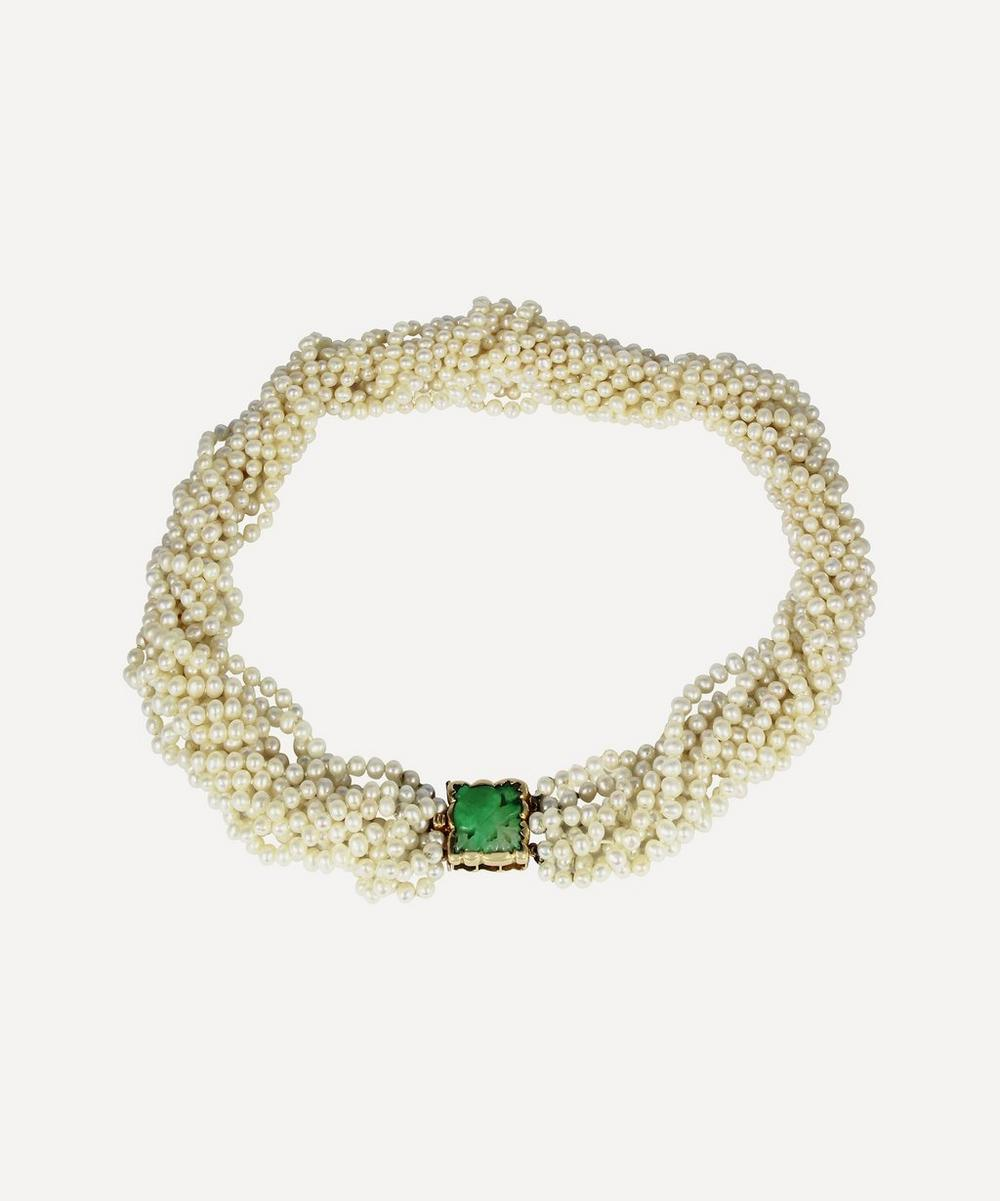 Kojis - Jade and Pearl Torque Necklace