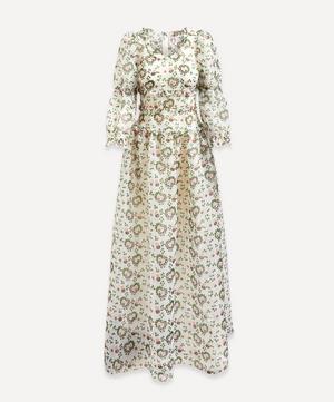 Cara Heart Organza Maxi-Dress