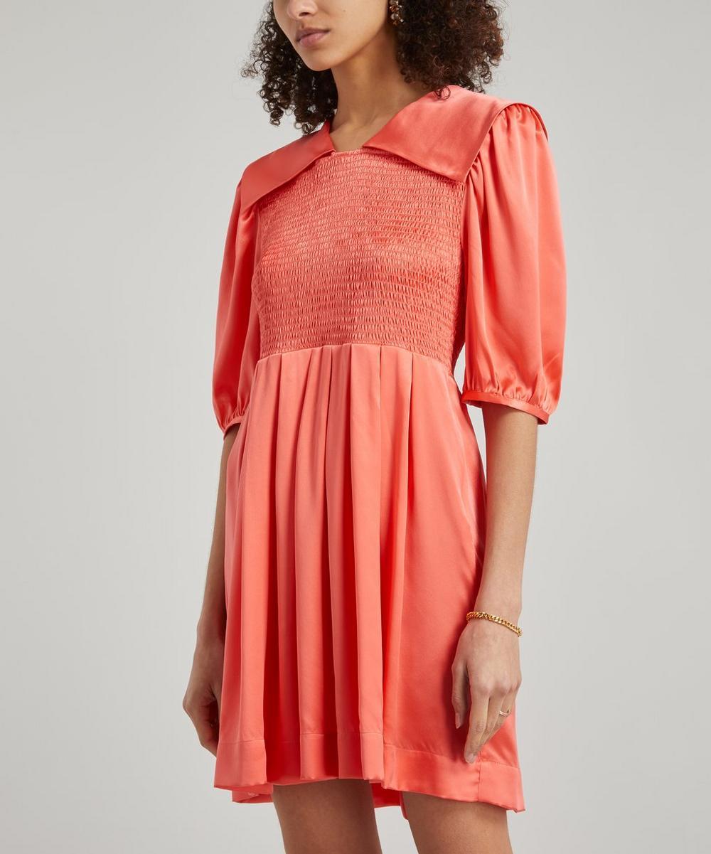 Shrimps - Johann Silk Satin Flare Mini-Dress