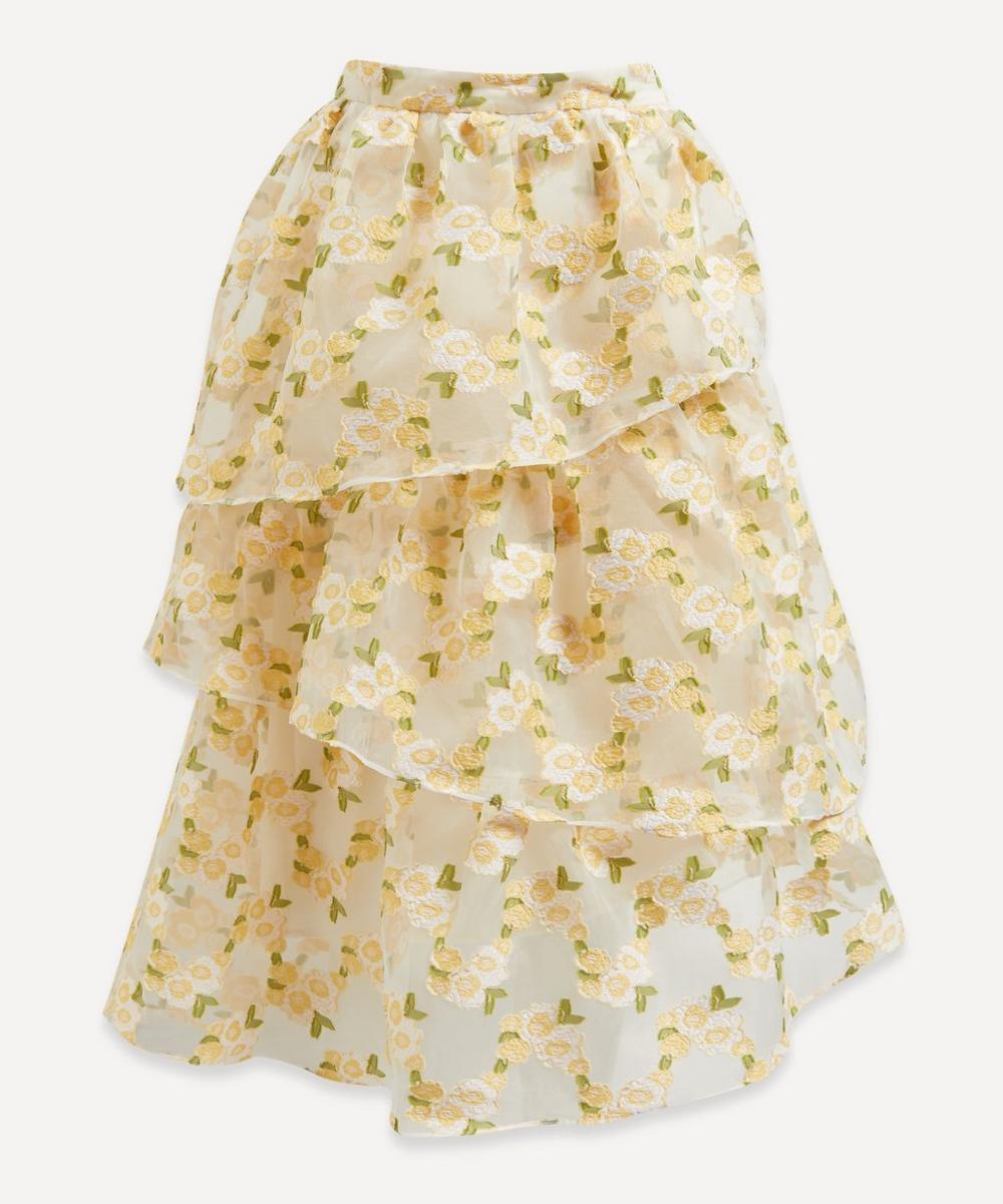 Shrimps - Lorena Floral Organza Tiered Skirt
