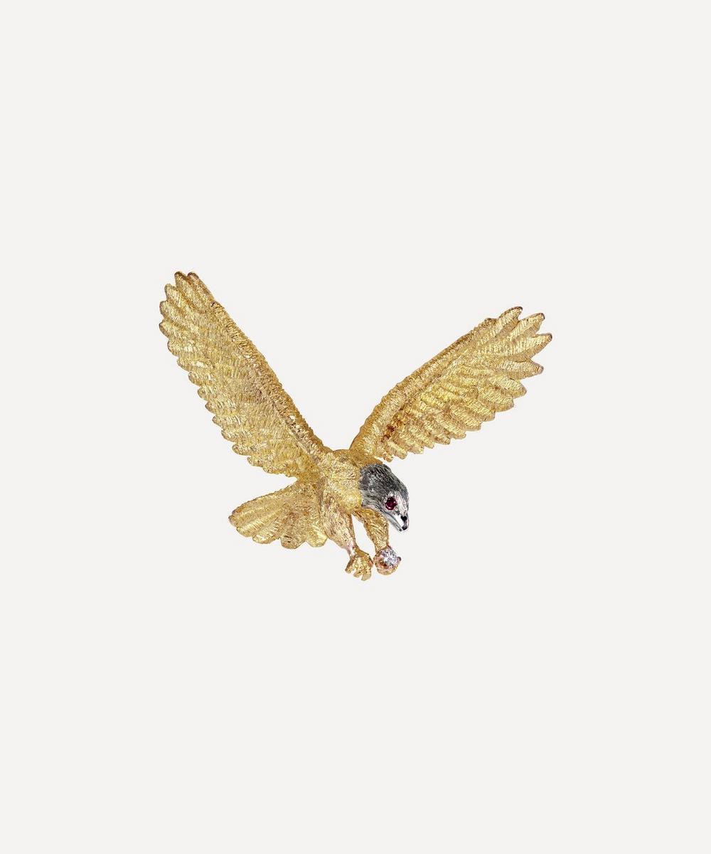 Kojis - Gold Ruby and Diamond Eagle Brooch