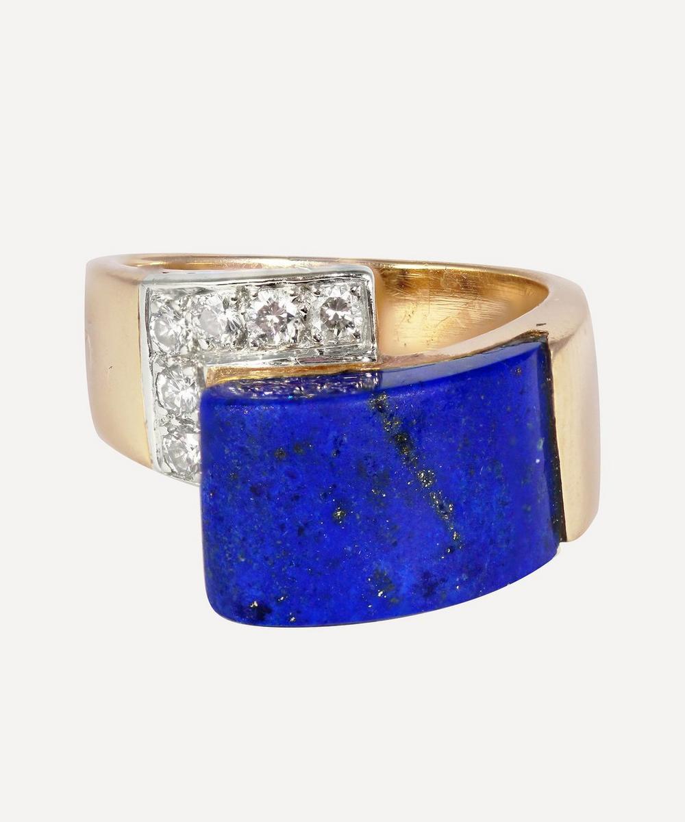 Kojis - Gold 1960s Lapis Lazuli and Diamond Ring