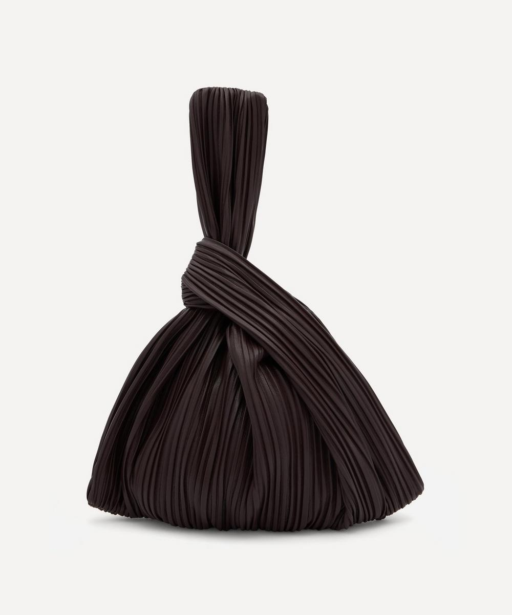 Nanushka - Jen Pleated Vegan Leather Clutch Bag