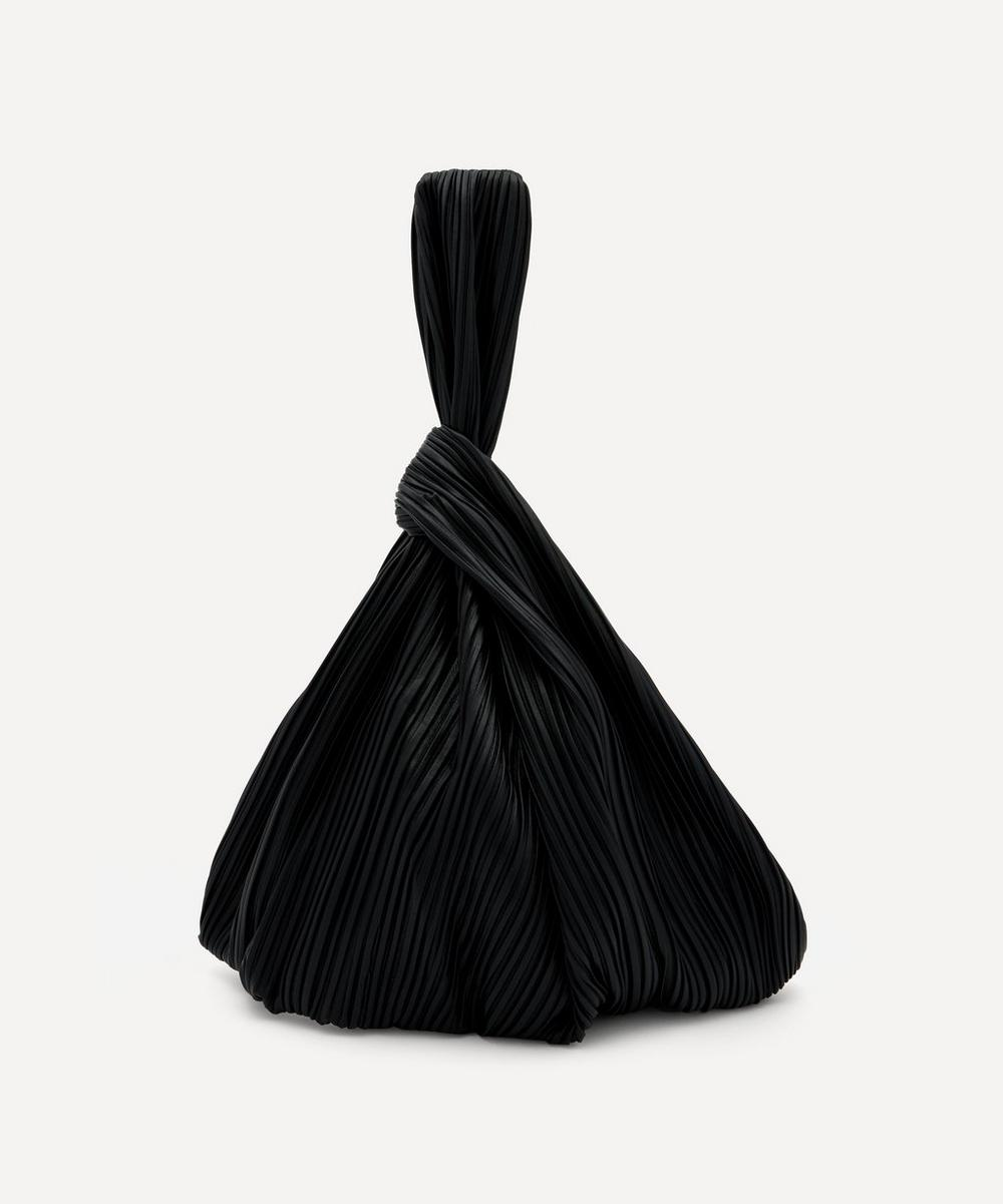 Nanushka - Jen Large Pleated Vegan Leather Clutch Bag