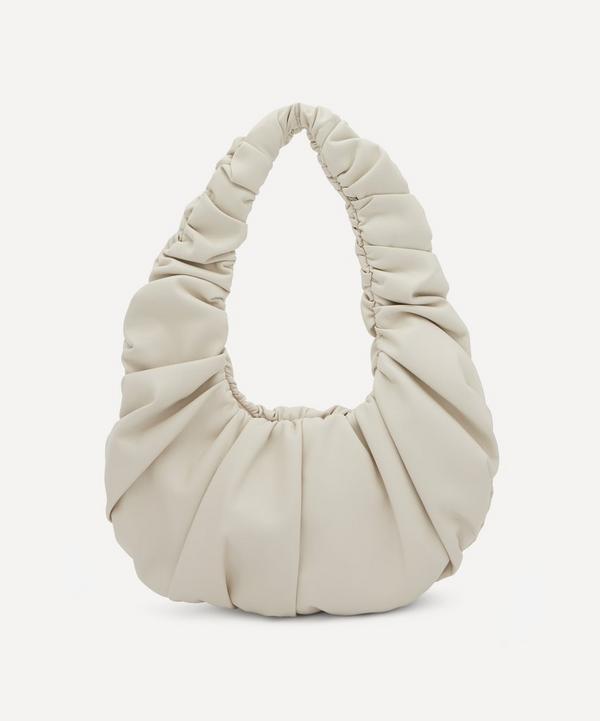 Nanushka - Anja Baguette Ruched Vegan Leather Shoulder Bag