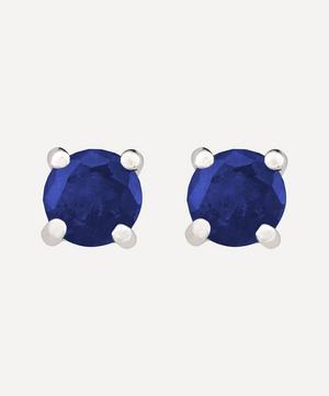 Platinum Sapphire Stud Earrings