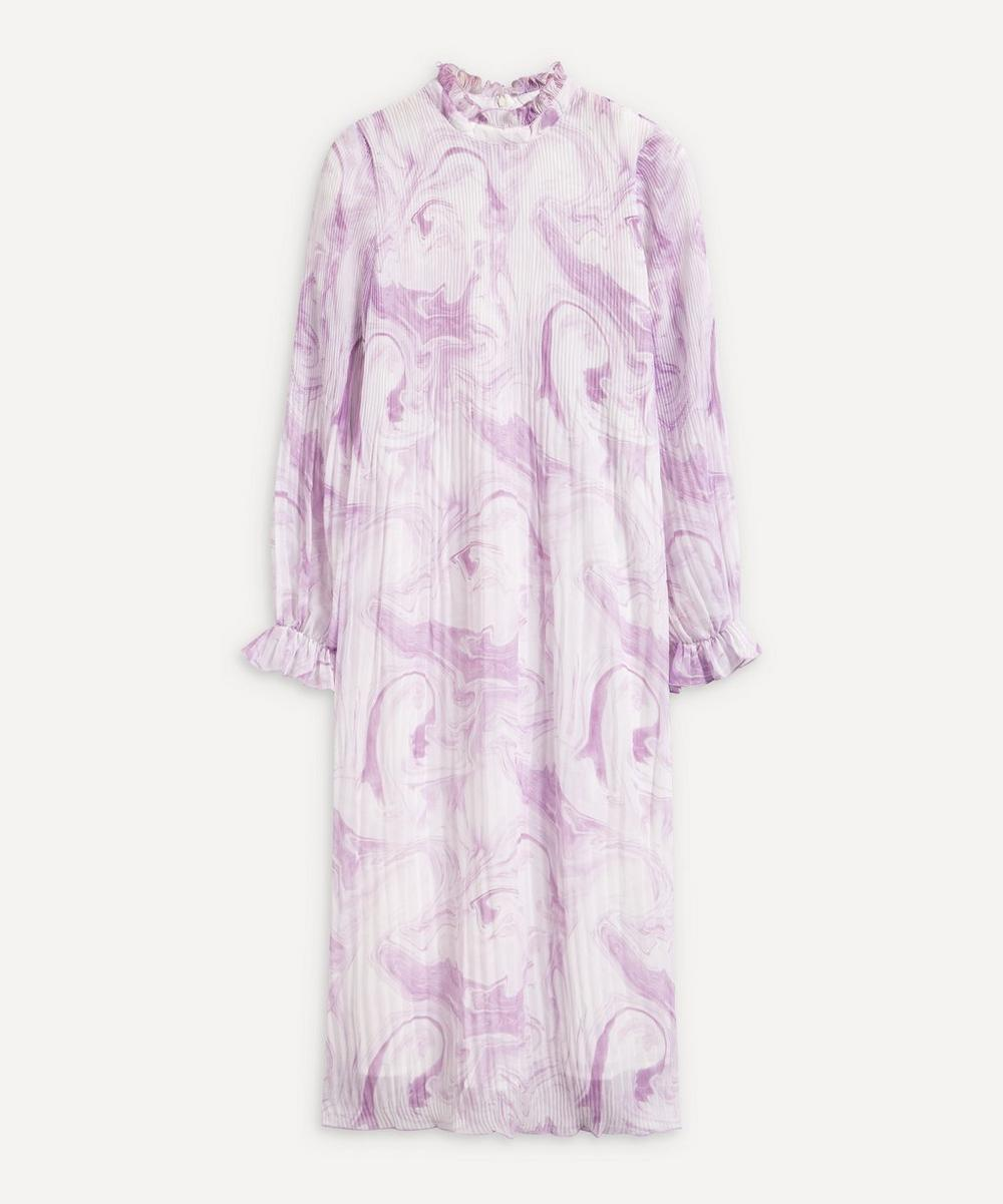 Ganni - Swirl Pleated Georgette Dress