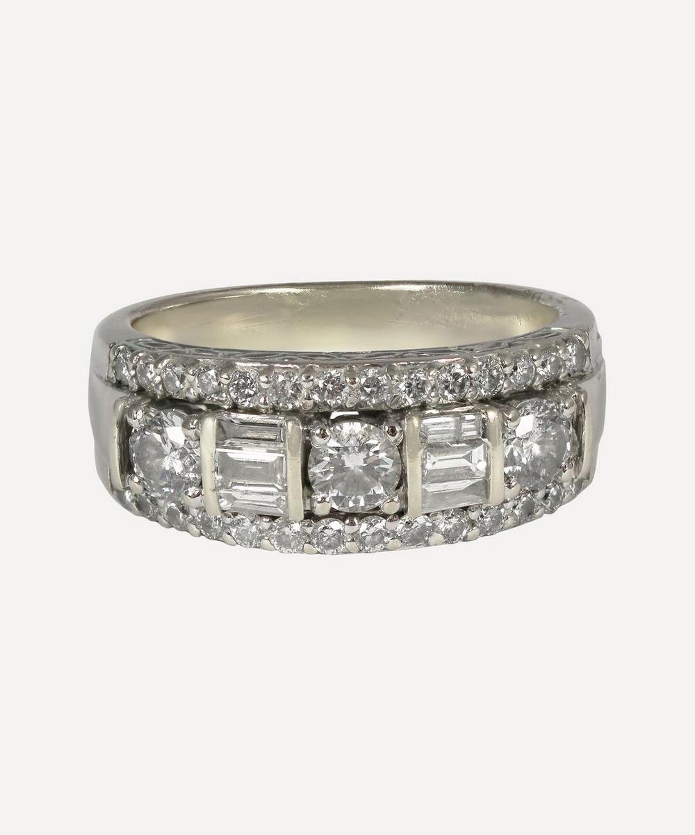 Kojis - White Gold Mixed-Cut Diamond Ring