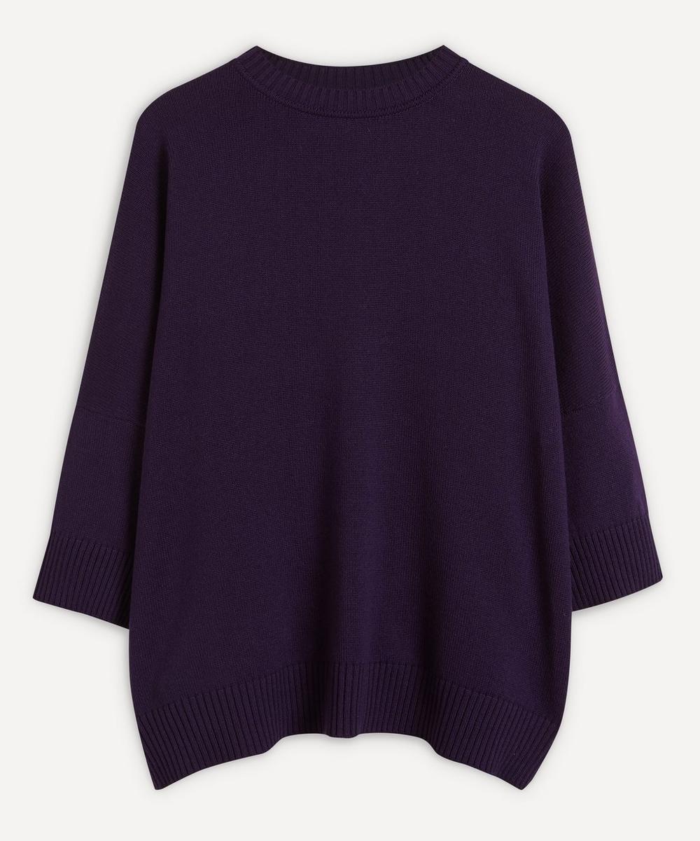 Eskandar - Sloped Shoulder Three-Quarter Sleeve Sweater