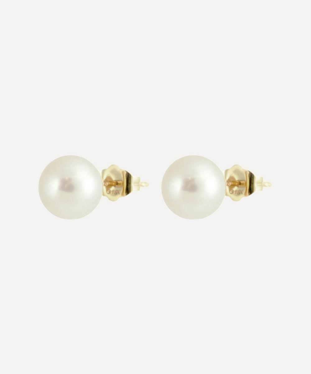 Kojis - Gold Pearl Stud Earrings