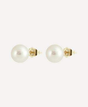 Gold Pearl Stud Earrings