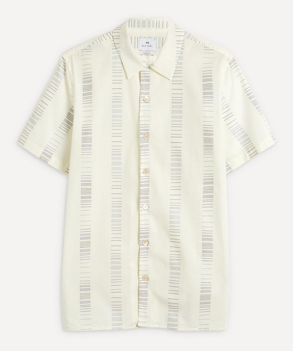 PS Paul Smith - Embroidered Lines Short-Sleeve Shirt
