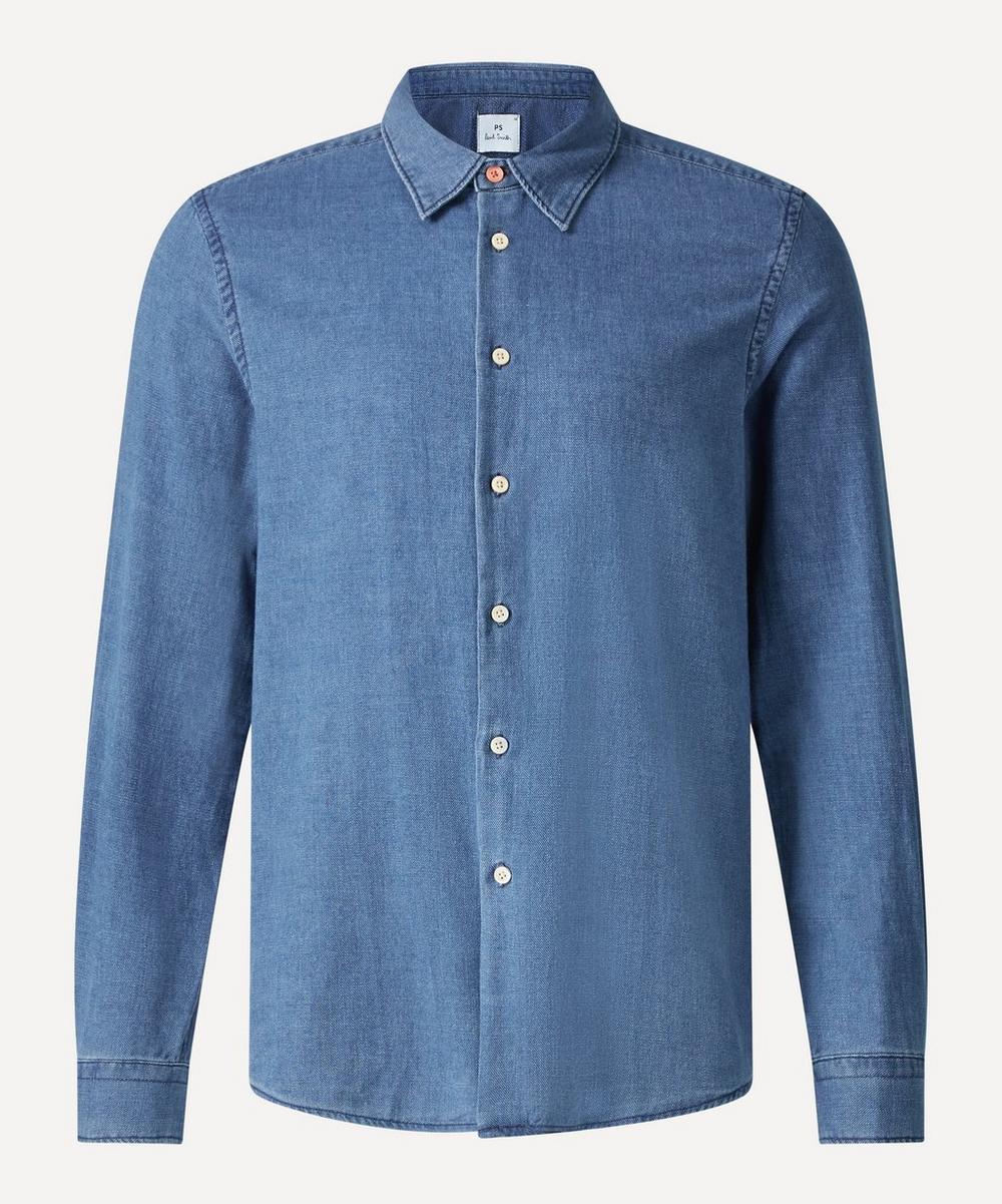 PS Paul Smith - Chambray Stripe Tab Shirt