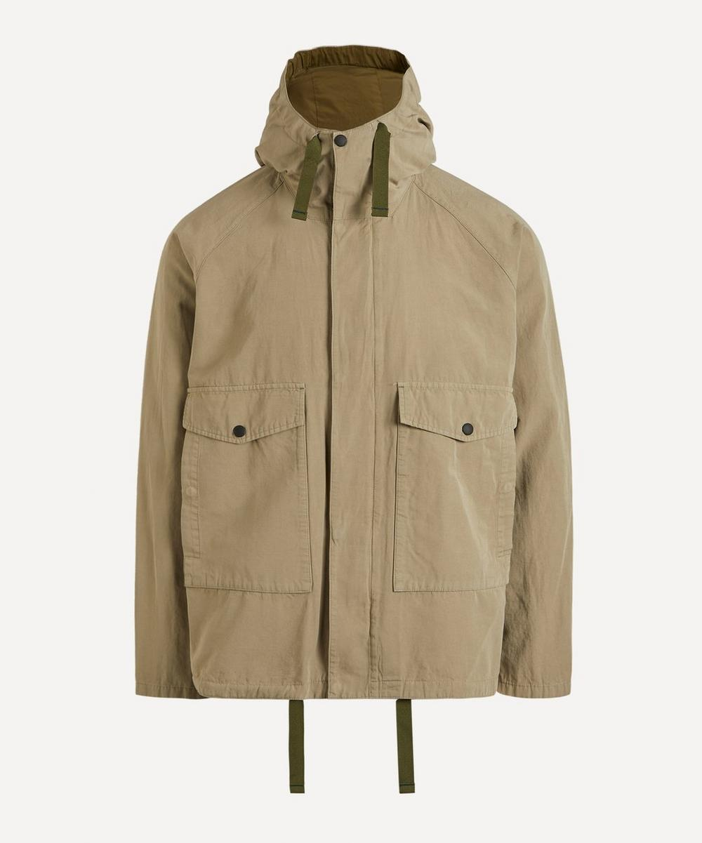 PS Paul Smith - Cotton-Linen Hooded Jacket