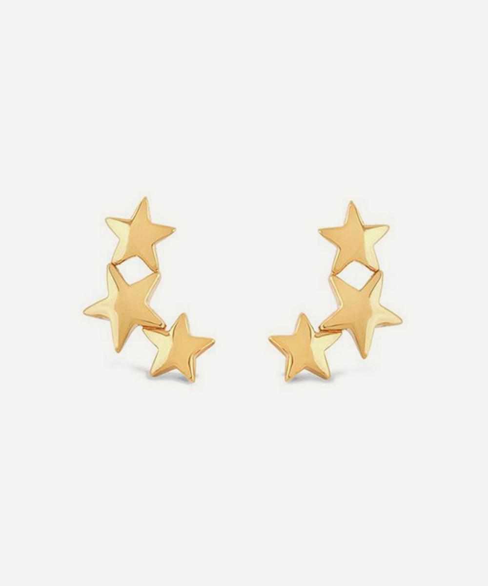 Dinny Hall - Gold Plated Vermeil Silver Bijou Trio of Stars Stud Earrings
