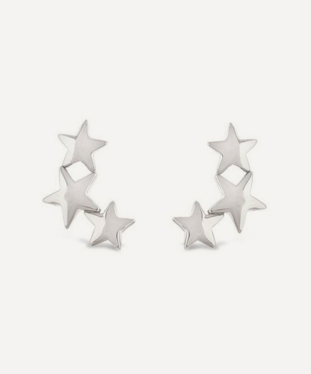 Dinny Hall - Sterling Silver Bijou Trio of Stars Stud Earrings