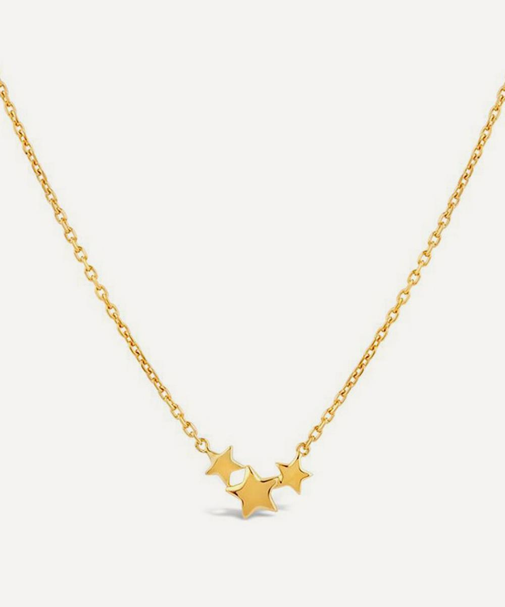 Dinny Hall - Gold Plated Vermeil Silver Bijou Trio Scoop Star Pendant NecklaceGold Plated Vermeil Silver Bijou Trio Scoop Star Pendant Necklace