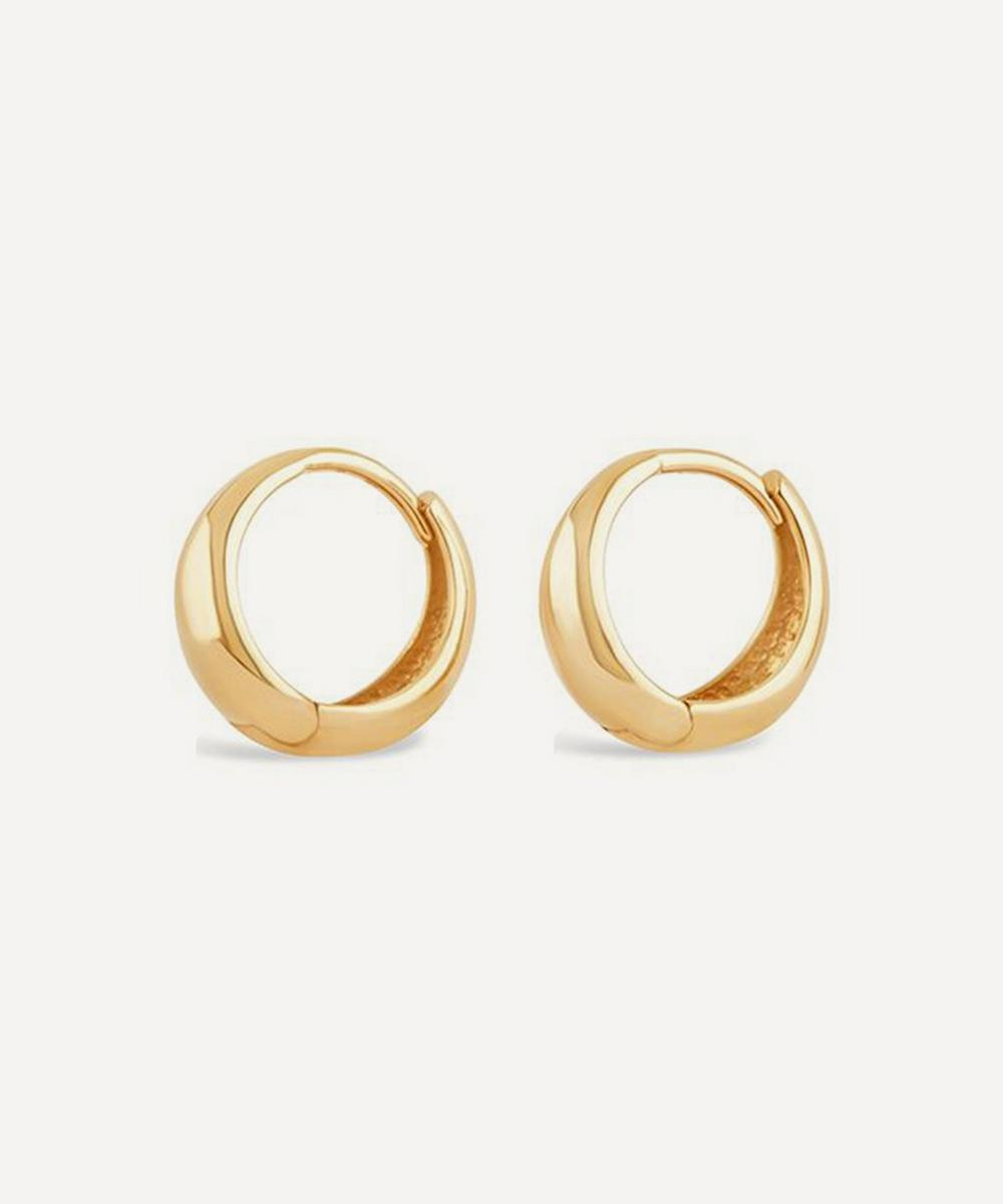Dinny Hall - 10ct Gold Mini Scoop Huggie Hoop Earrings