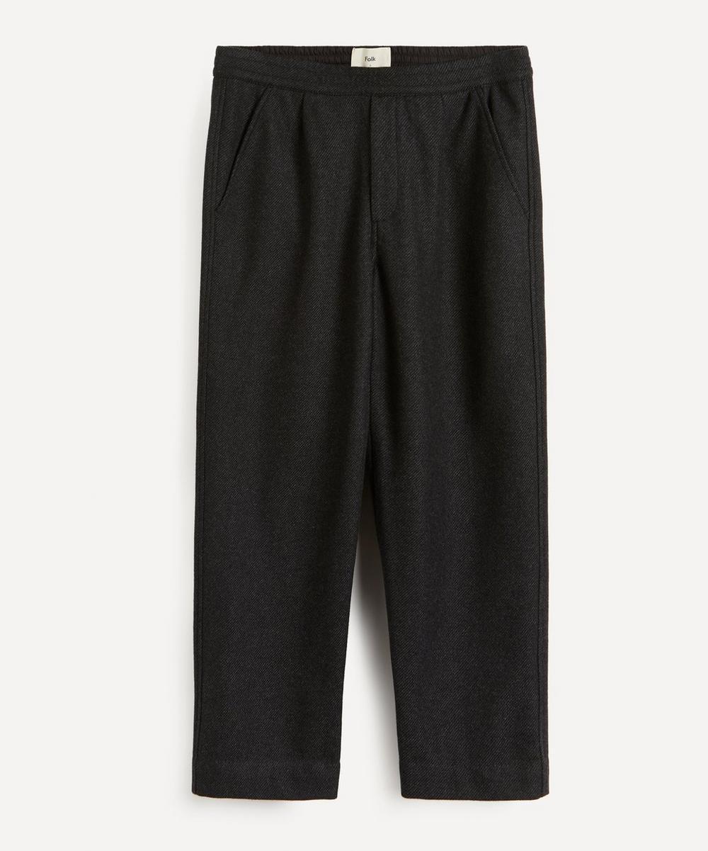 Folk - Alber Wool-Twill Drawstring Trousers