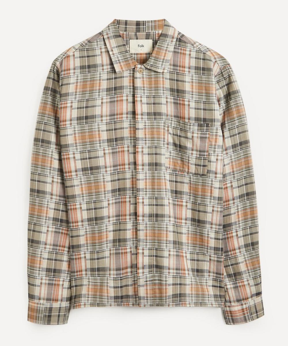 Folk - Patch Pocket Check Shirt