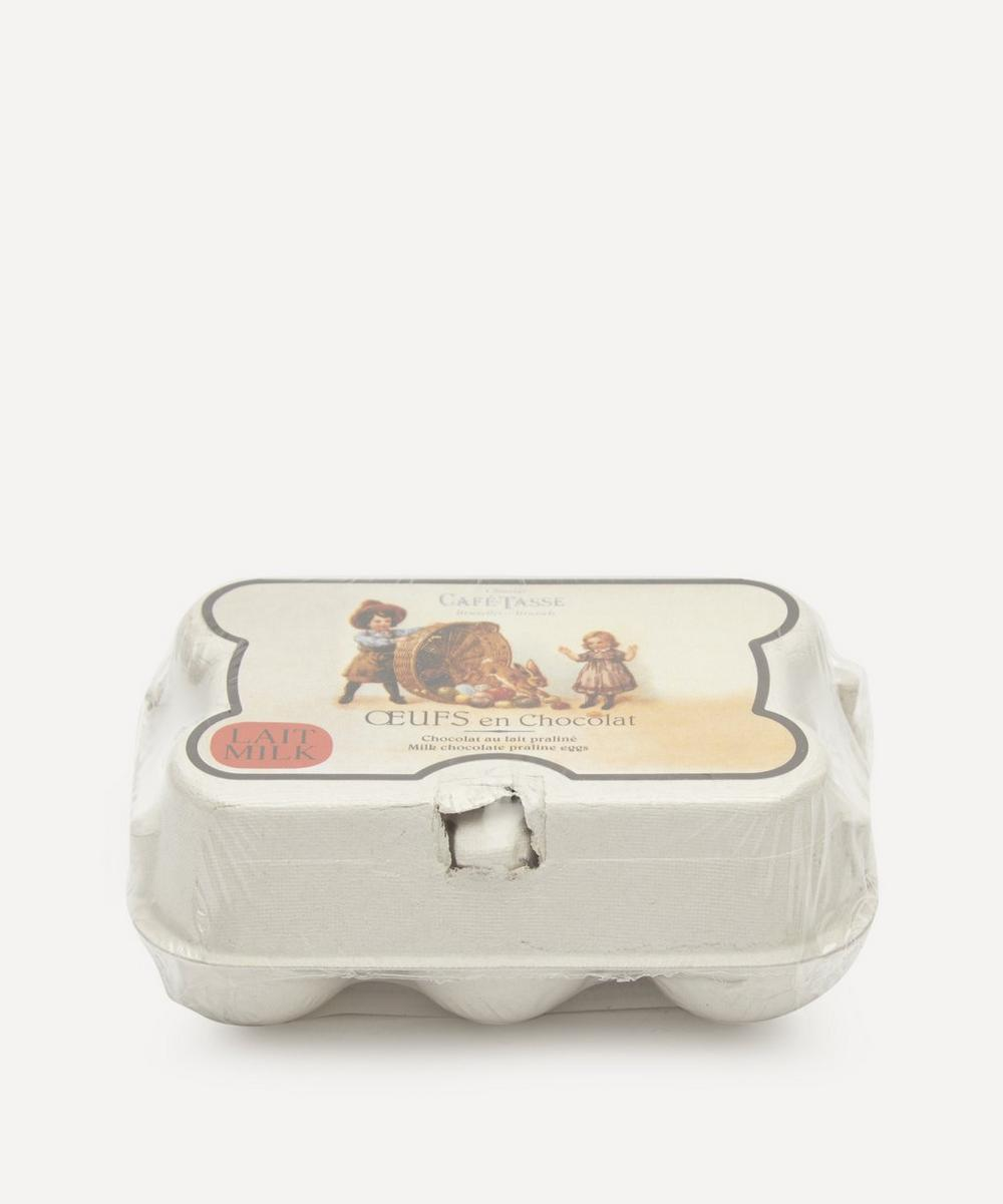 Café-Tasse - Milk Chocolate Praline Eggs Box of Six 78g