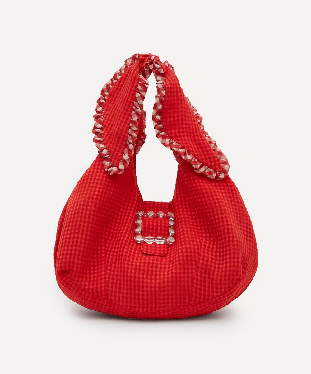Shrimps - Ellery Frilly Cotton-Blend Shoulder Bag