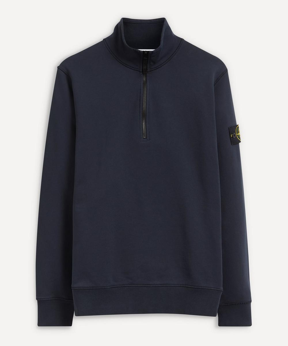 Stone Island - Half-Zip Cotton Sweater