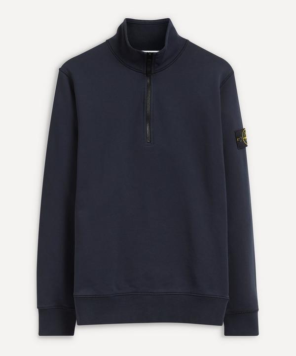 Stone Island - Half-Zip Cotton Sweater