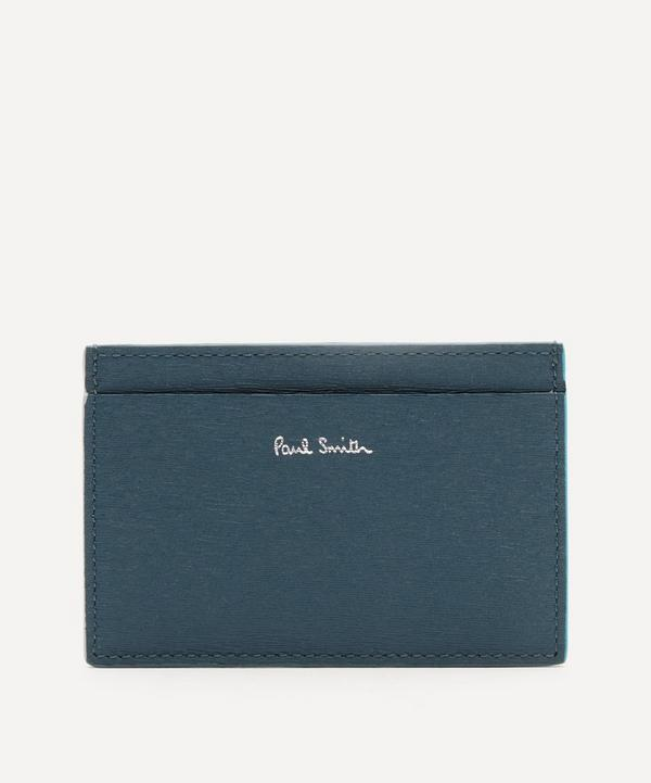 Paul Smith - Colour-Block Straw-Textured Card Holder