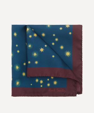 Star Print Silk Pocket Square