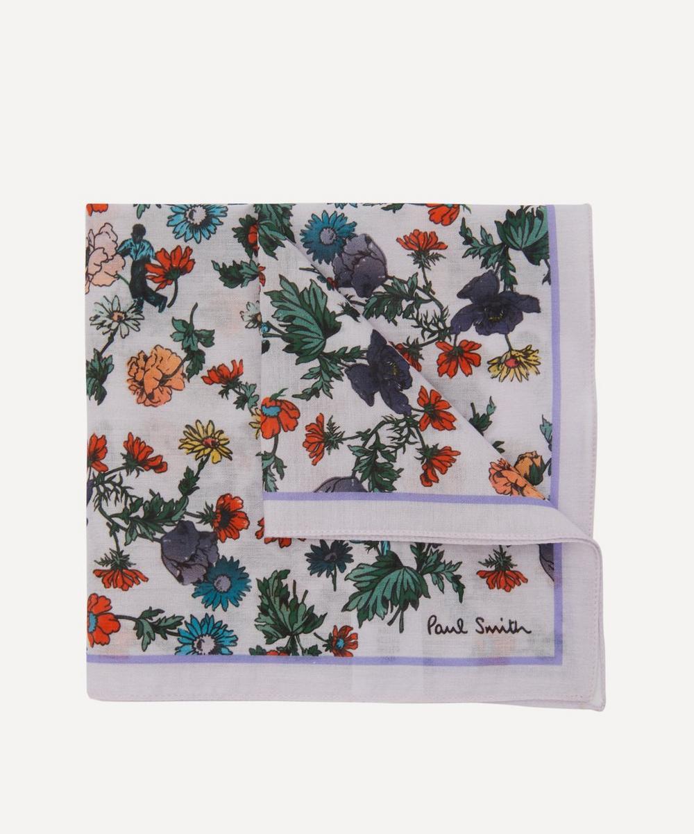 Paul Smith - Floral Print Cotton Pocket Square