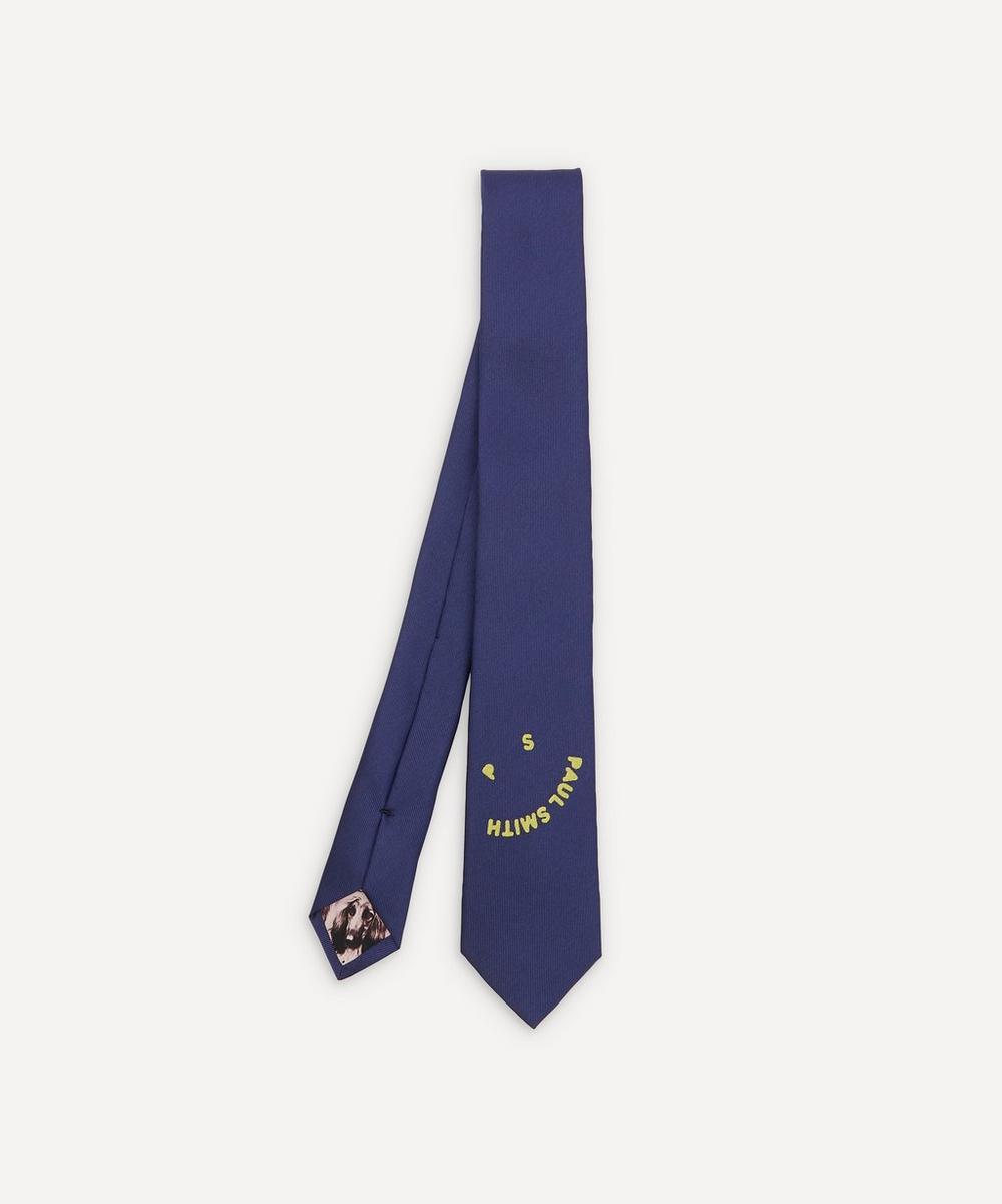 Paul Smith - Woven Silk PS Face Tie