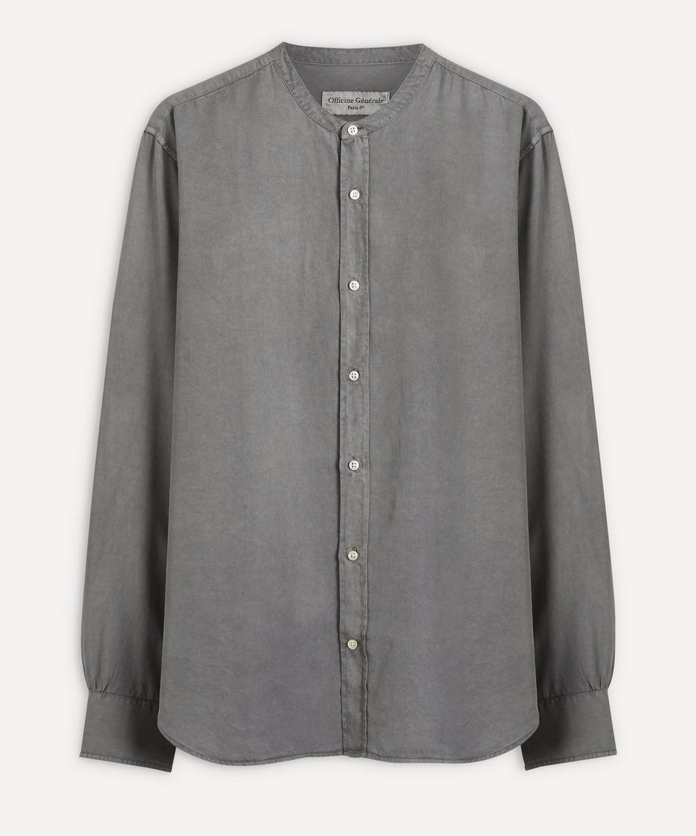 Officine Générale - Grandad Collar Pigment-Dyed Shirt