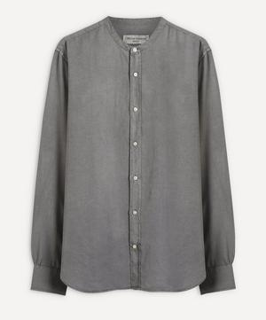 Grandad Collar Pigment-Dyed Shirt
