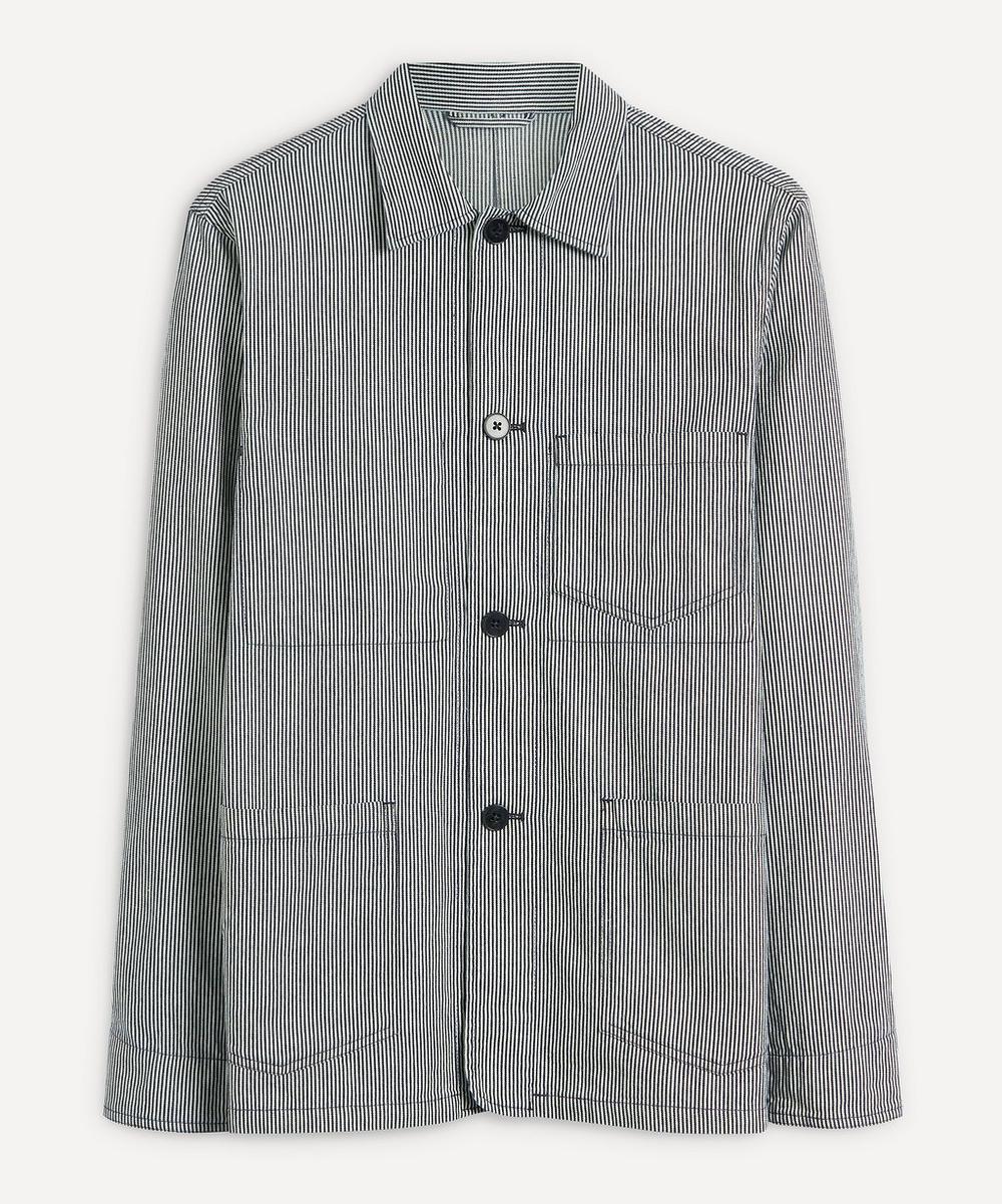 Officine Générale - Three Pocket Stripe Chore Jacket