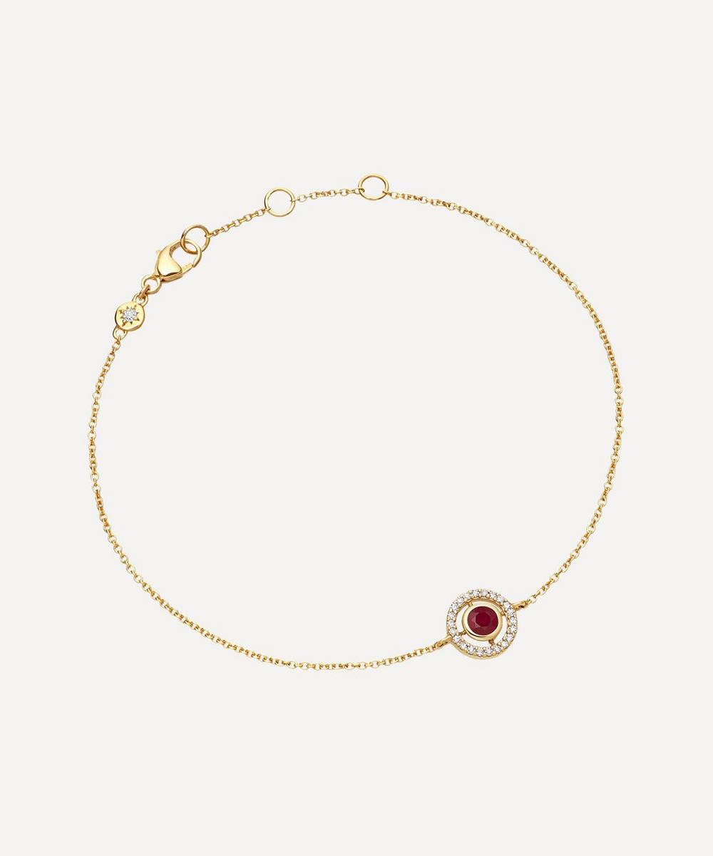 Astley Clarke - Gold Mini Icon Aura Ruby and Diamond Bracelet