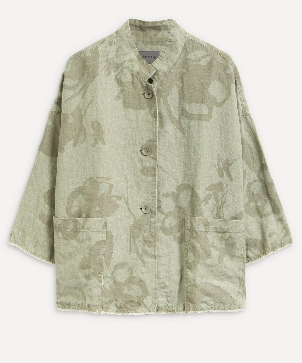 Oska - Fylla Printed Linen Jacket