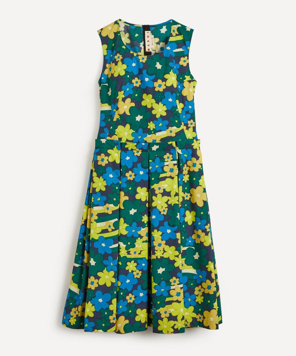 Marni - Jade Floral Printed Midi-Dress