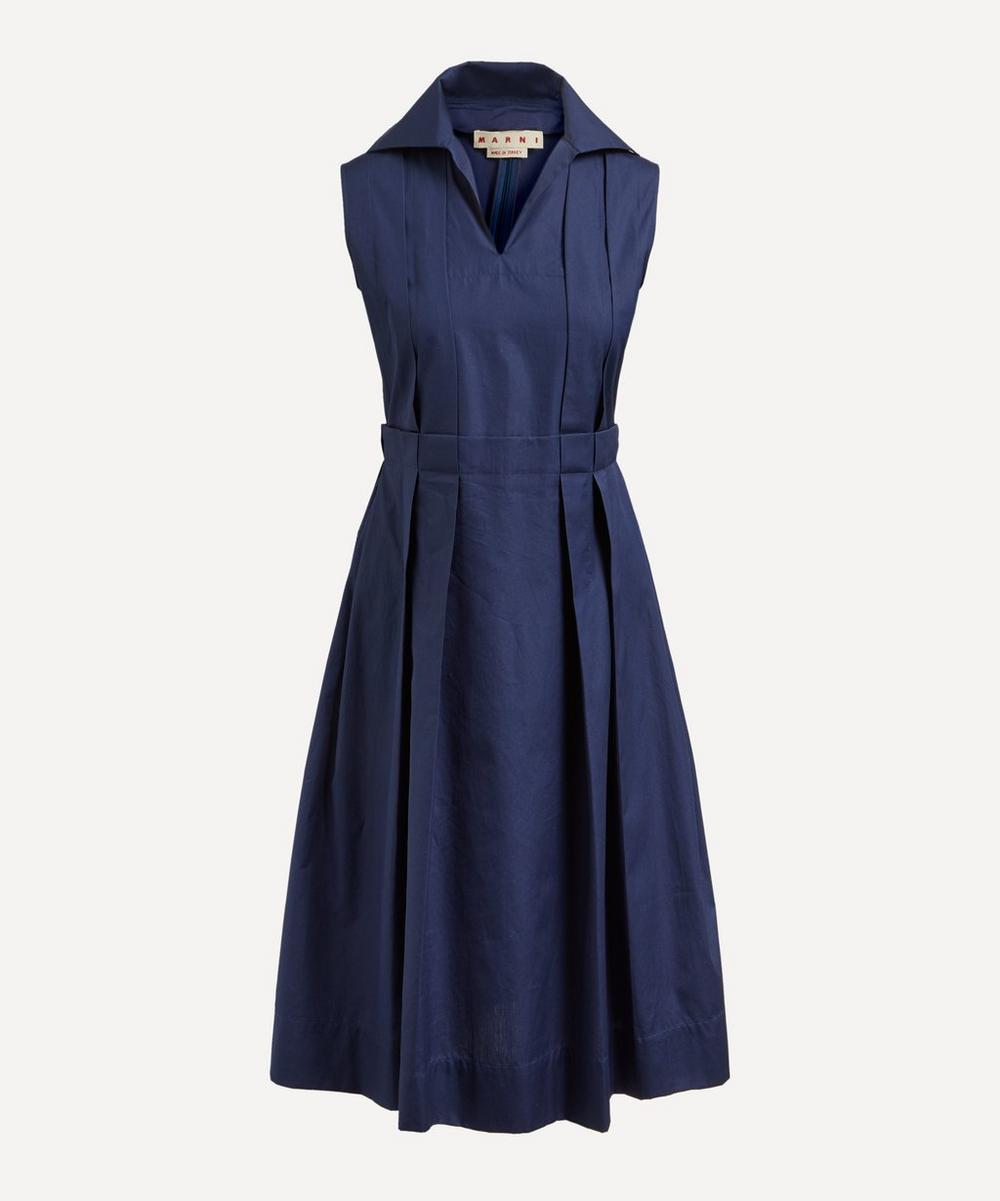 Marni - Pleated Cotton Midi-Dress