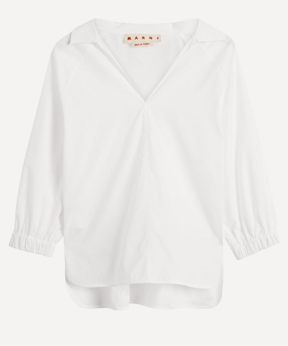 Marni - V-Neck Cotton Blouse