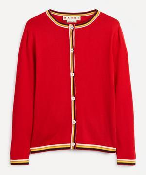 Stripe Virgin Wool Cardigan
