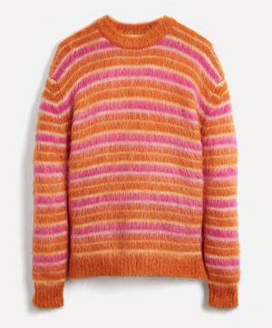 Mohair-Blend Stripe Knit Jumper