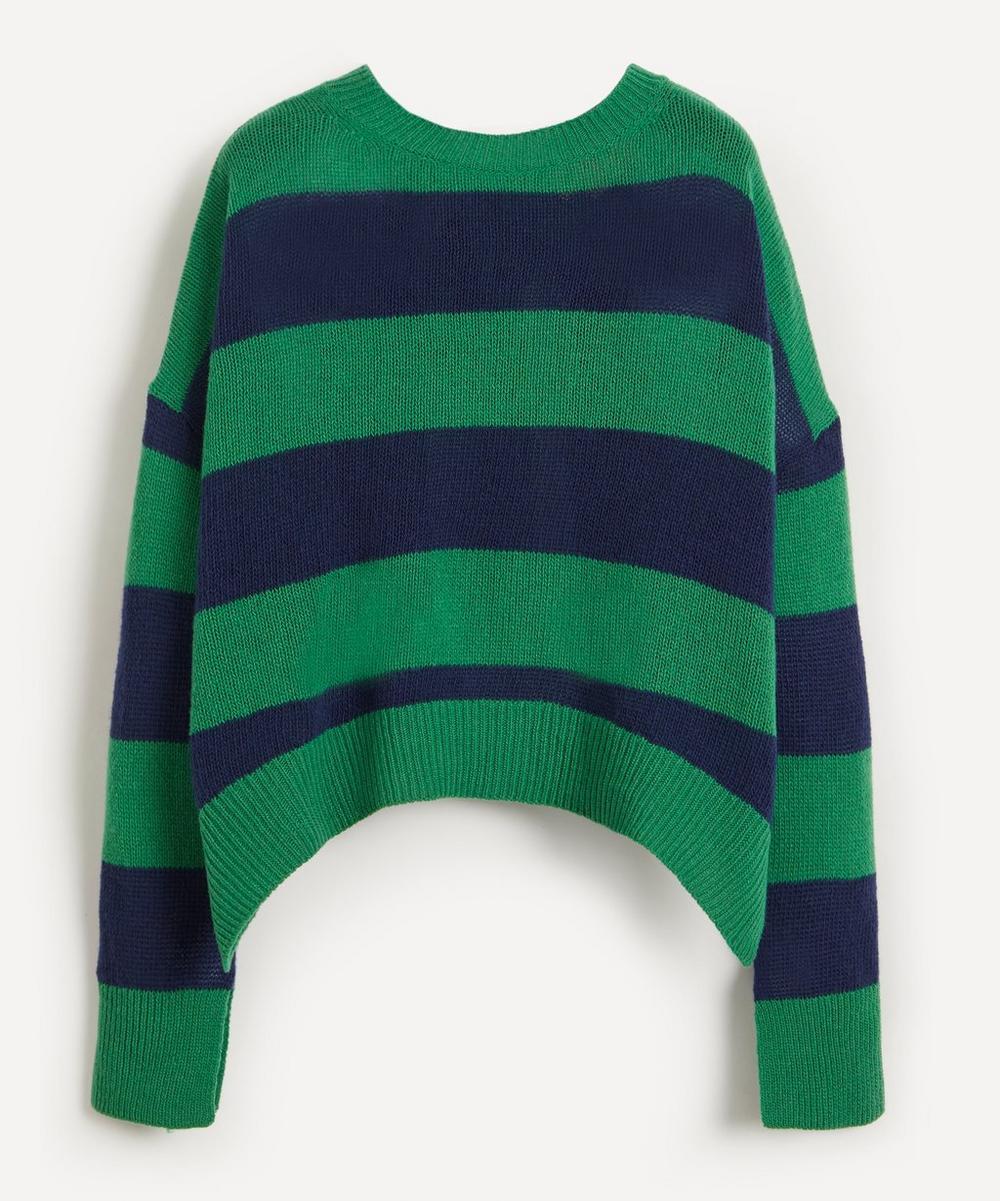 Marni - Stripe Open-Back Virgin Wool-Cashmere Knit