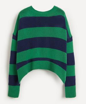 Stripe Open-Back Virgin Wool-Cashmere Knit