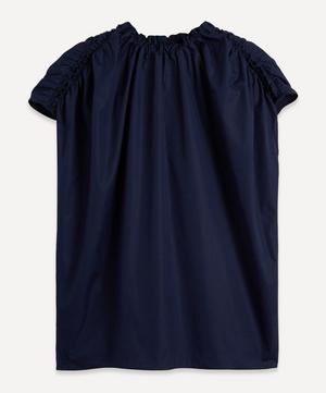 Circular Ruched Cotton Top