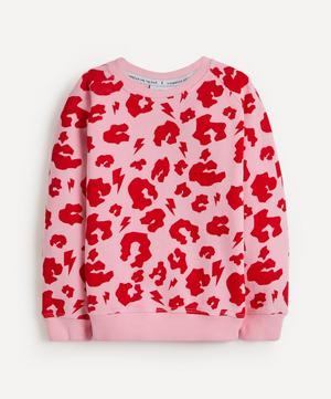 Leopard Print Lightning Bolt Sweatshirt 1-8 Years