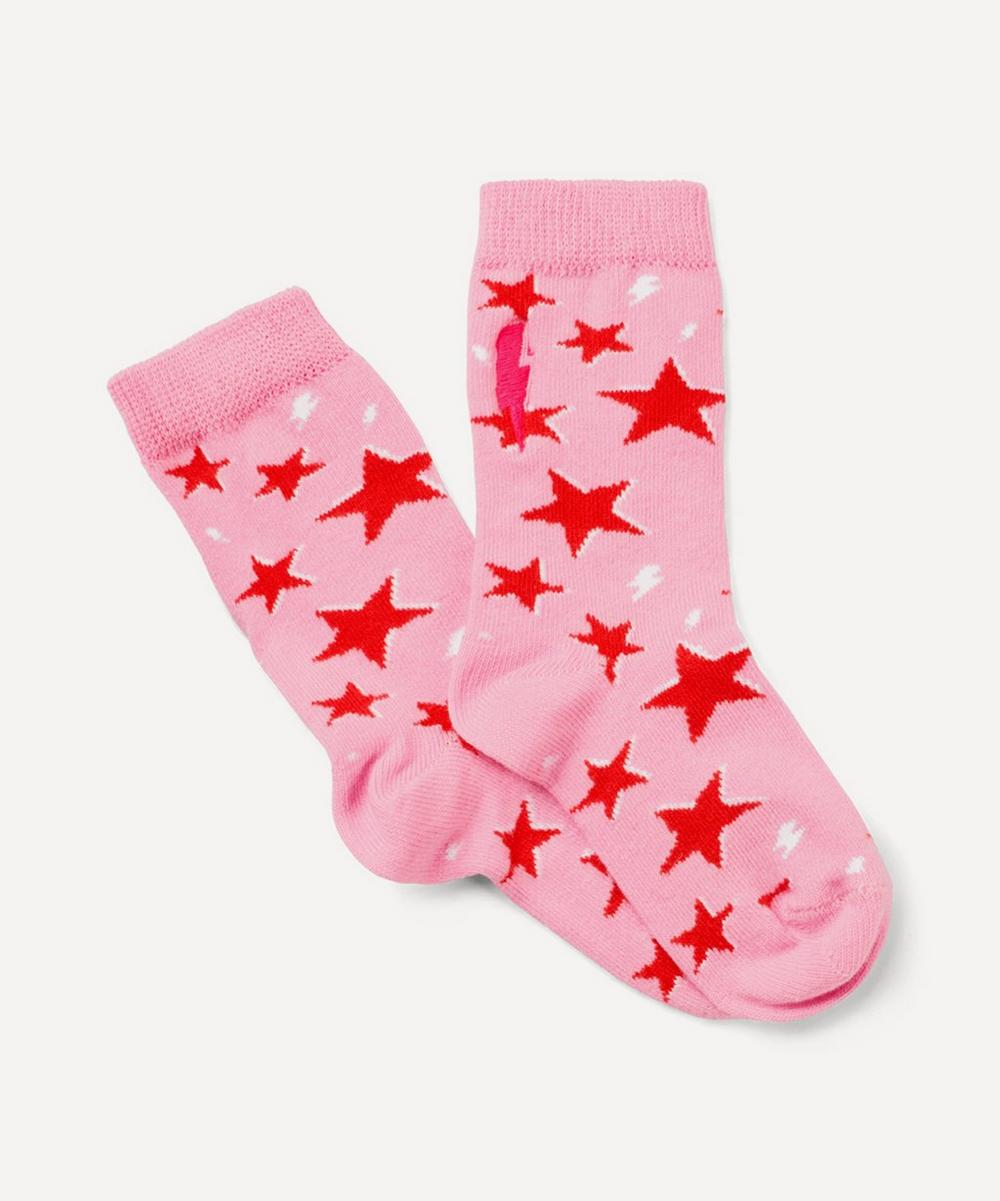 Scamp & Dude - Star and Lightning Print Socks 2-8 Years